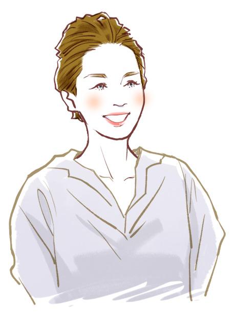 美容師店員さん似顔絵イラスト01