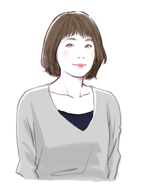 美容師店員さん似顔絵イラスト04