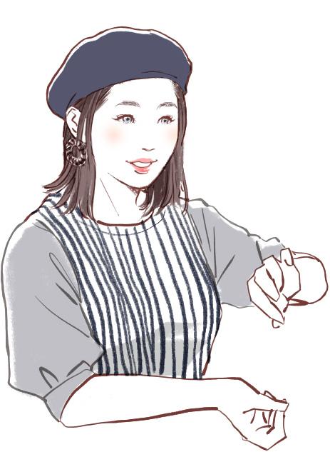 美容師店員さん似顔絵イラスト05